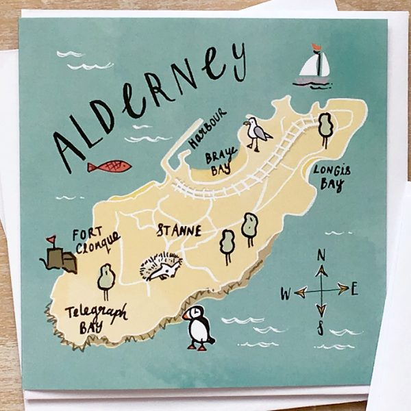 Card of Alderney, Channel Islands