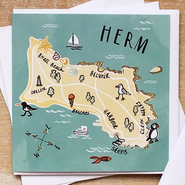 Illustrated card of Herm