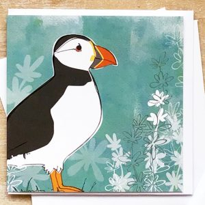 Puffin card Guernsey