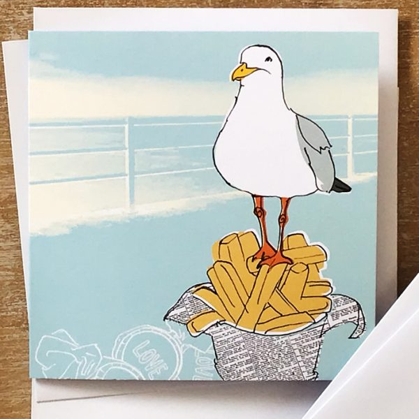 Card Seagull on chips