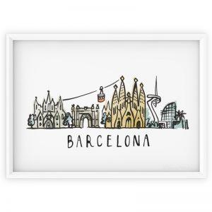barcelona skyline print
