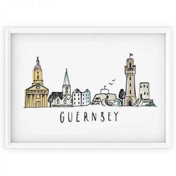 Guernsey Skyline print