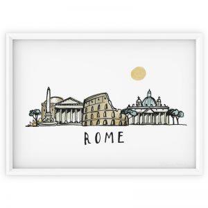 Rome Skyline print