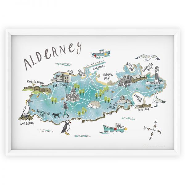 Illustrated Map of Alderney
